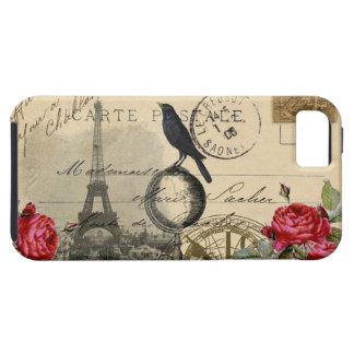 パリのカラスの地球のフランスのな郵便はがきのバラの例 iPhone SE/5/5s ケース