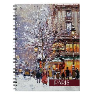 パリのクリスマス。 クリスマスのギフトのノート ノートブック