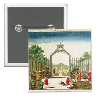 パリのゲートの1つの市場庭 5.1CM 正方形バッジ