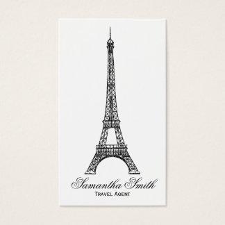 パリのテーマのエッフェル塔の旅行代理店 名刺