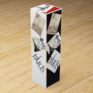 パリのテーマのワイン用化粧箱 ワインギフトボックス