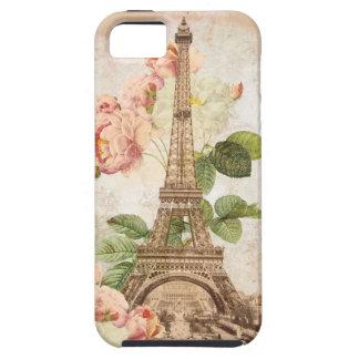 パリのピンクのバラのヴィンテージの電話箱 iPhone SE/5/5s ケース