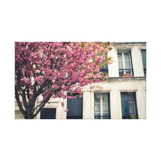 パリのピンクの花2 キャンバスプリント