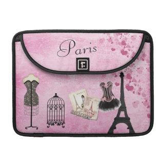 パリのファッションのMacBookのシックでガーリーなピンクの袖 MacBook Proスリーブ