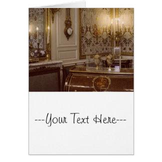パリのフランスのなロココ様式の部屋 カード