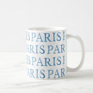 パリのフランスのな文字の水彩画のマグ コーヒーマグカップ