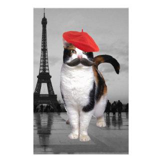 パリのフランスのな猫 便箋