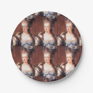 パリのフランス人のMarieアントワネットの紙皿 ペーパープレート スモール