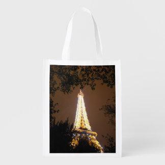 パリのフランス-夜のエッフェル塔 エコバッグ