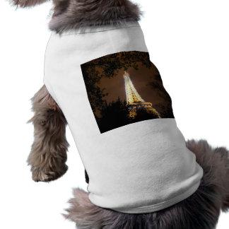 パリのフランス-夜のエッフェル塔 ペット服