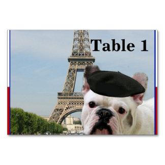 パリのフレンチ・ブルドッグ カード