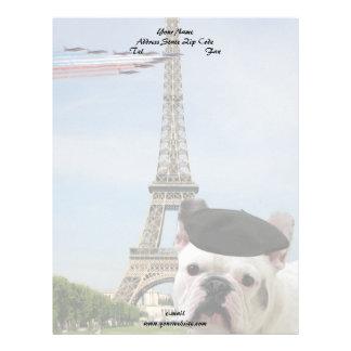 パリのフレンチ・ブルドッグ レターヘッド