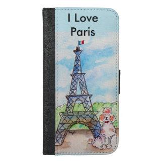 パリのプードル iPhone 6/6S PLUS ウォレットケース