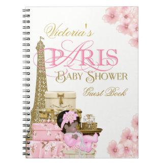 パリのベビーシャワーの来客名簿 ノートブック