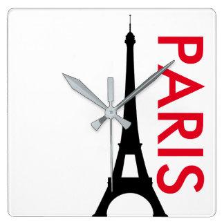 パリのミニマリストの時計 スクエア壁時計