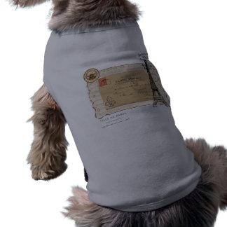 パリのヴィンテージのぼろぼろのシックなエッフェル塔 ペット服