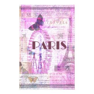 パリのヴィンテージのパリのテーマの芸術 便箋