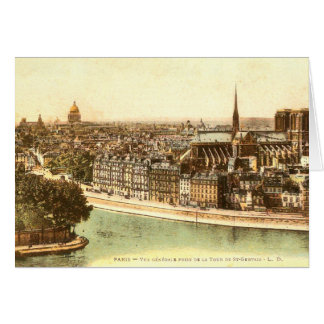 パリのヴィンテージの郵便はがき カード