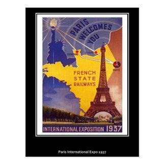 パリのヴィンテージの郵便はがき ポストカード