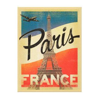 パリのヴィンテージ旅行キャンバスのプリント キャンバスプリント