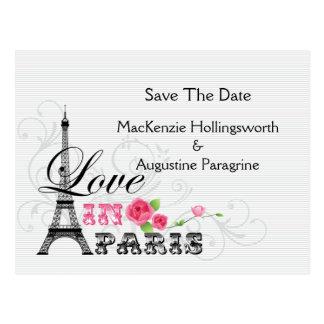 パリの保存の愛日付 ポストカード