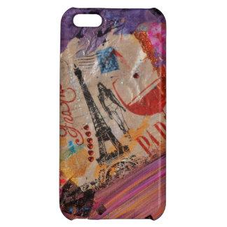 パリの光沢のあるiPhone5例 iPhone5Cカバー