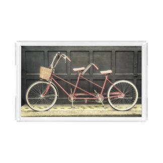 パリの写真のアクリルの虚栄心の皿のタンデム自転車 アクリルトレー