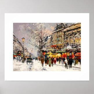 パリの冬。 ファインアートポスター ポスター