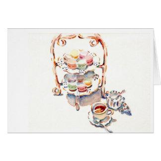 パリの午後のフランス人の茶 カード