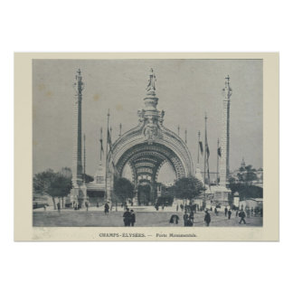 パリの博覧会1900年のチャンピオンElysees Porte Monumentale ポスター
