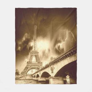 パリの古いフリースブランケット フリースブランケット