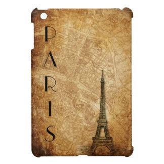 パリの古い地図およびエッフェル塔 iPad MINIケース