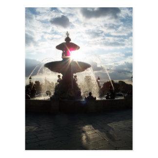 パリの噴水の郵便はがき ポストカード