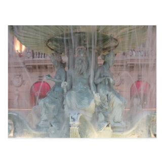 パリの噴水 ポストカード