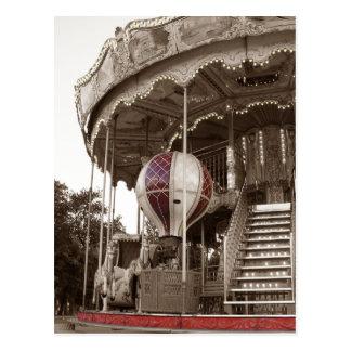 パリの回転木馬 ポストカード