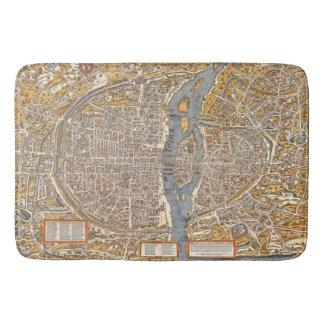 パリの地図の1550年のSeine川の旧式なヴィンテージフランス バスマット