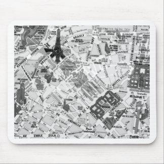 パリの地図 マウスパッド