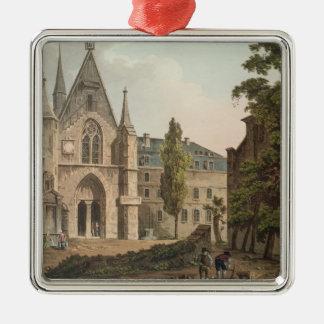 パリの大学deナバール シルバーカラー正方形オーナメント