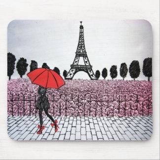 パリの女の子 マウスパッド