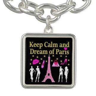 パリの平静そして夢を保って下さい チャームブレスレット