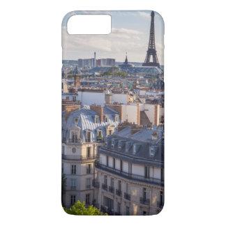 パリの建物上の夕べの日光 iPhone 8 PLUS/7 PLUSケース