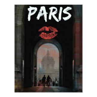 パリの愛、キス レターヘッド
