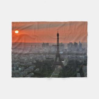 パリの日没 フリースブランケット