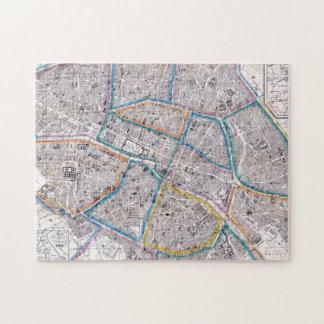 パリの旧式な地図 ジグソーパズル