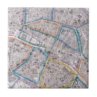 パリの旧式な地図 タイル