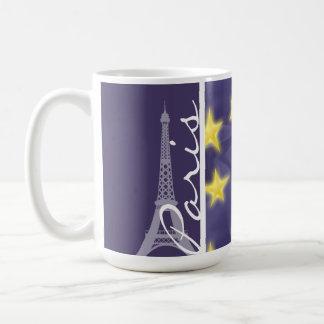 パリの星明かりの夜; エッフェル塔 コーヒーマグカップ