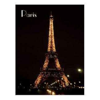 パリの照明: エッフェル塔 ポストカード