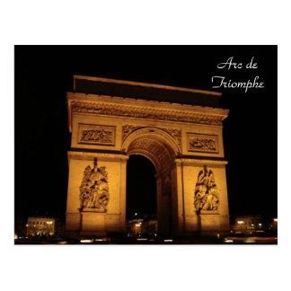 パリの照明: 凱旋門 ポストカード