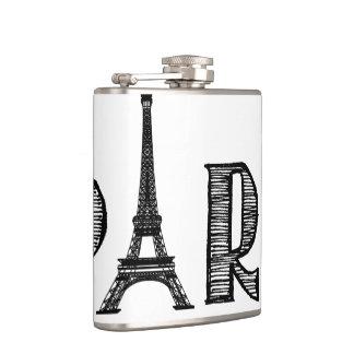 パリの白黒フラスコ フラスク