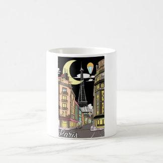 パリの白11のozのクラシックで白いマグ コーヒーマグカップ